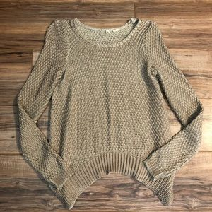 Anthropologie Rose Gold Moth Knit Sweater Oversize